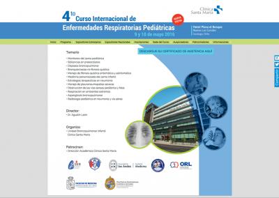 Curso Enfermedades Respiratorias Clinica Santa María 2016