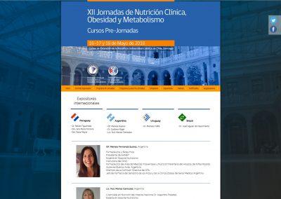 Jornadas de Nutrición Clínica, Obesidad y Metabolismo 2018
